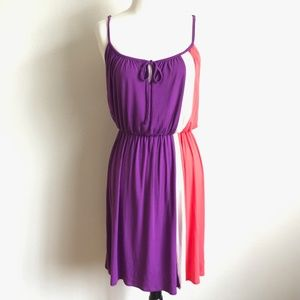 Felicity & Coco Purple Sleeveless Colorblock Dress